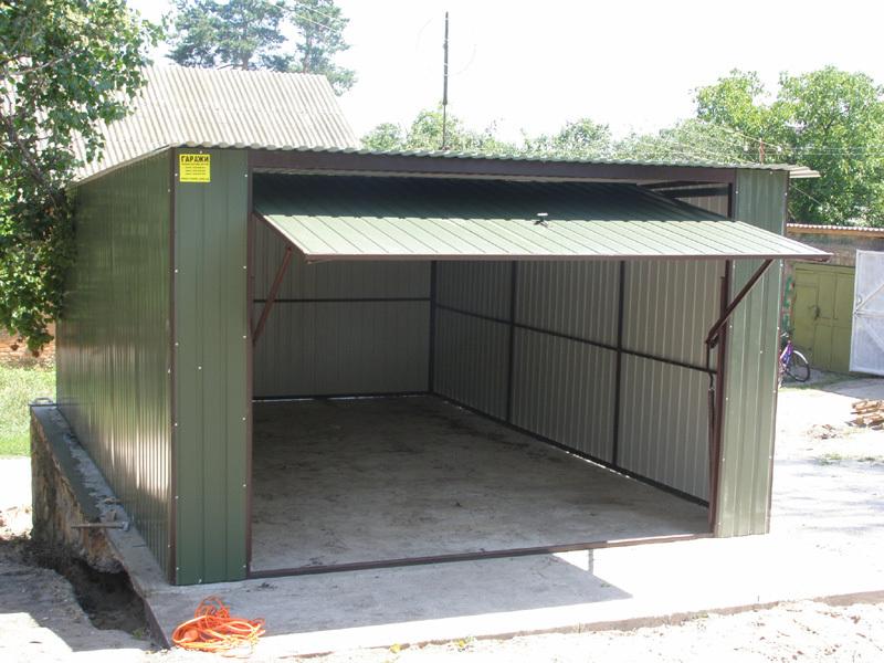 Баня из металлического гаража