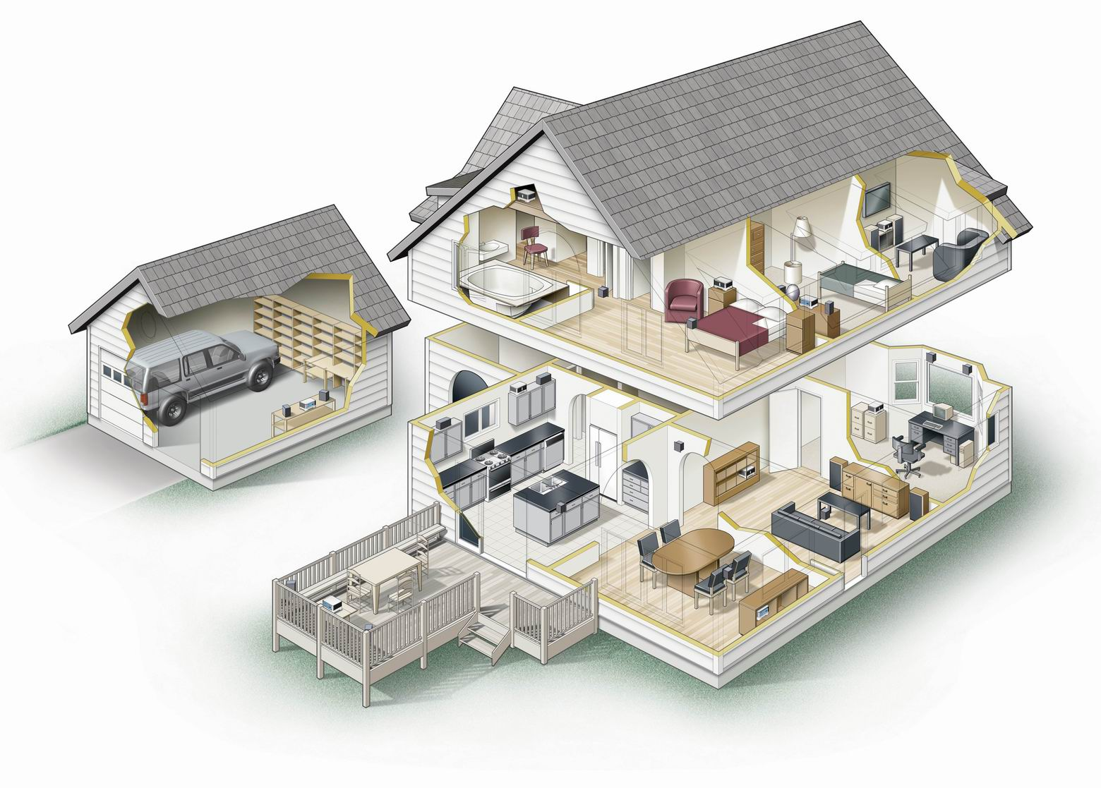 Схема домов внутри фото
