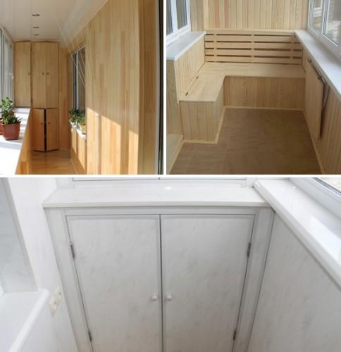 Встроенная мебель - идеальное решение для вашего балкона.